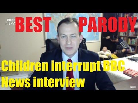 Children interrupt BBC News interview (Best Parody)