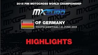 European Championship Round of Germany EMX250 Race 2 Highlights - motocross
