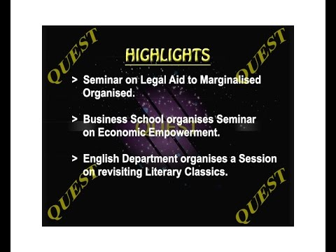 Quest 348 : Seminar on legal aid, seminar on Economic empowerment  &  revisiting literary classics
