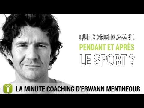 Que manger avant, pendant et après le sport ? - La minute coaching Fitnext.com