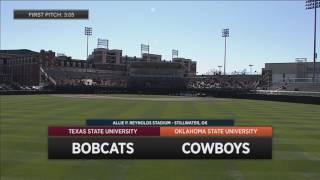 getlinkyoutube.com-2/25 Cowboy Baseball vs. Texas State