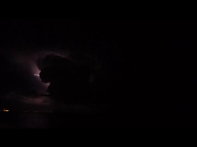 Tempesta davant del Maresme - Badalona - Novembre 2017