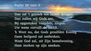 Psalm 20 vers 1, 3 en 5 - Dat op uw klacht de hemel scheure