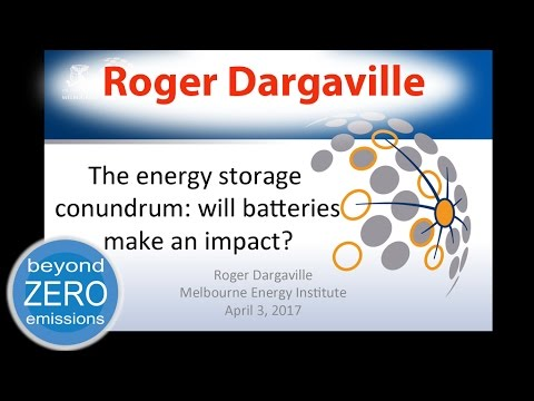 Energy Storage & 100% Renewable Energy