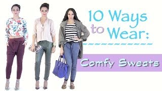 Comfy Cute Outfits ! How to Style Sweatpants 10 Outfits