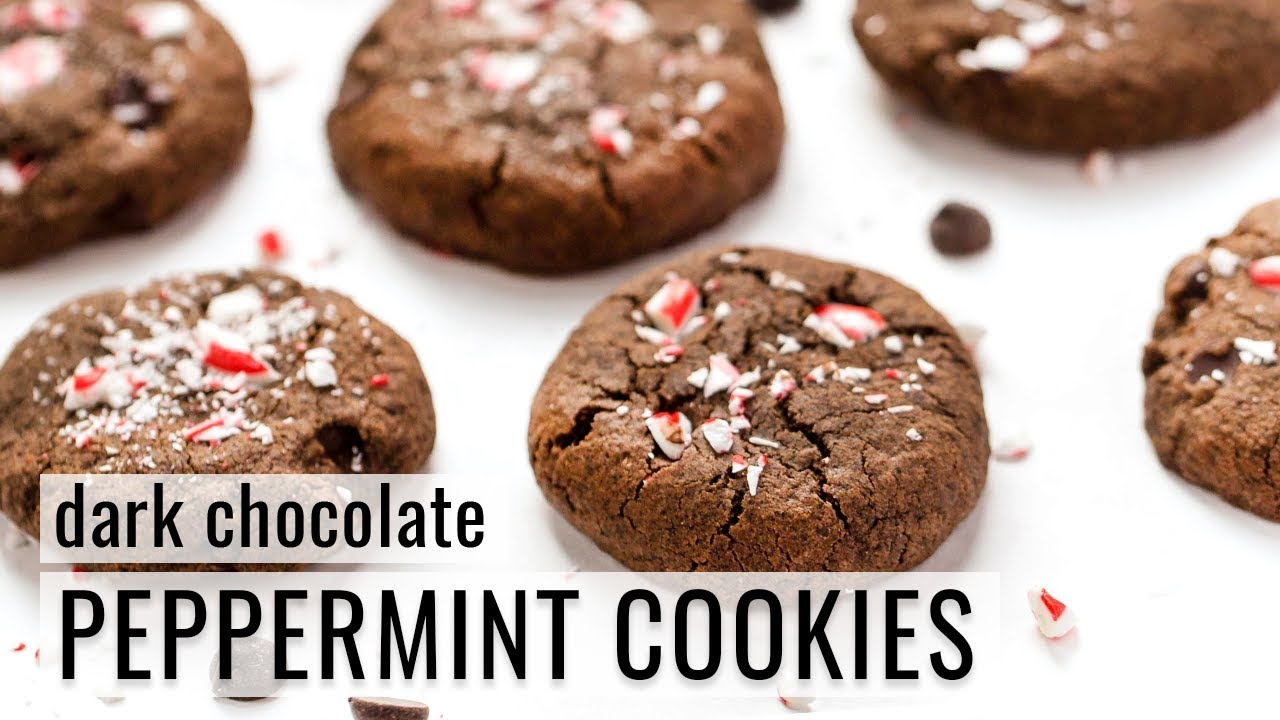 DARK CHOCOLATE PEPPERMINT COOKIES   vegan & gluten-free   #COOKIE WEEK