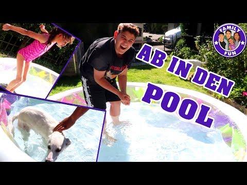 planschen-im-pool-|-kira-erstes-mal-im-wasser-vlog-#88-our-life-family-fun