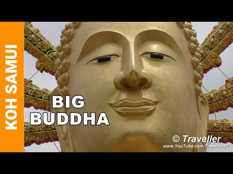 Big Buddha tour Koh Samui – Ko Samui attractions – Wat Phra Yai – Thailand temples – 4K video