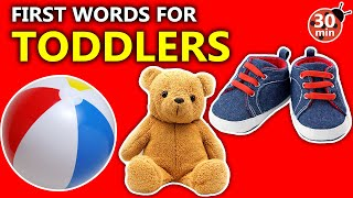 Toddler Learning Video Words, Songs and Signs! Baby's First Words Speech and Language Development