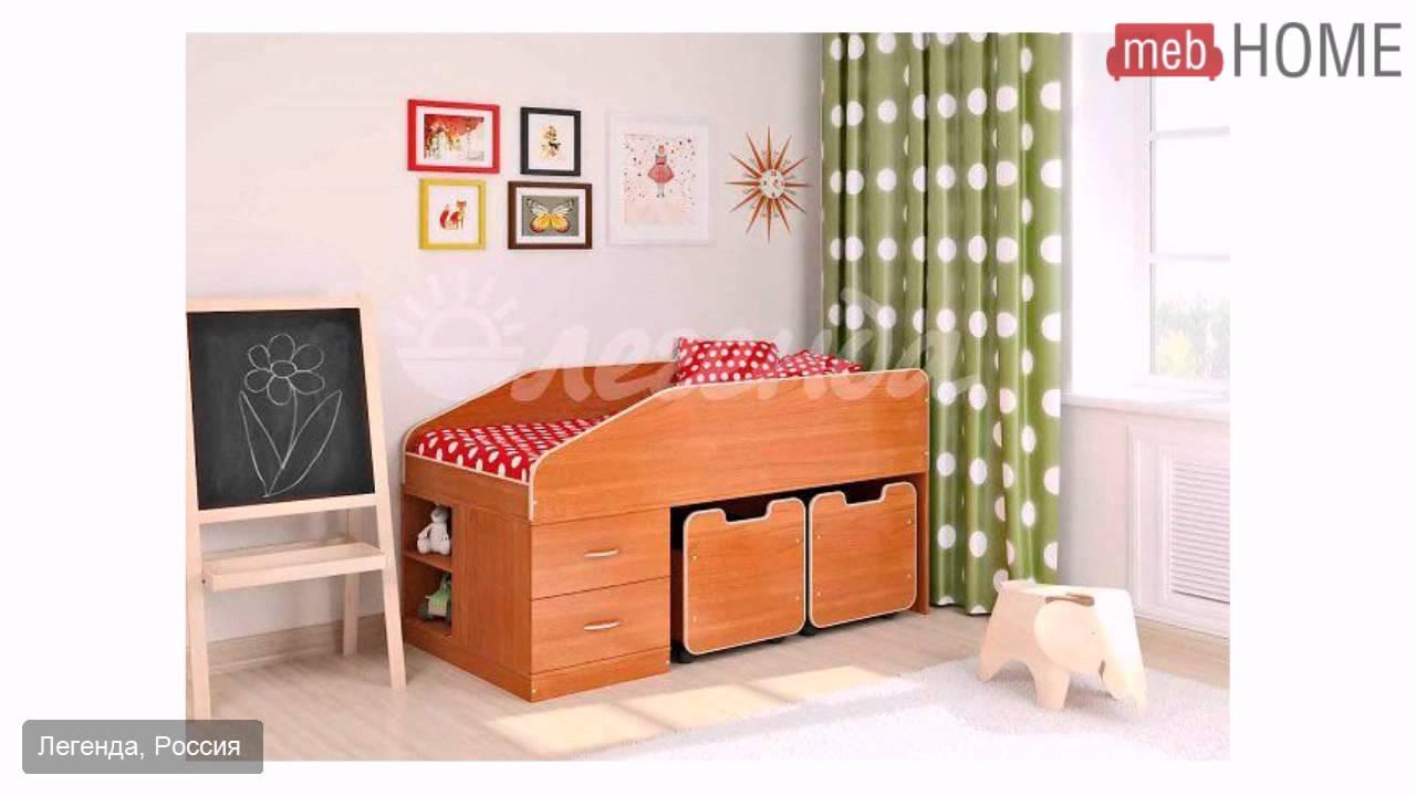 Сборка кровати чердака Пионер фабрика Ярофф - YouTube
