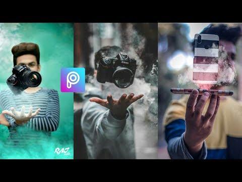 Creative smoke boy and DSLR camera photo editing in Picsart |mobile edit|2018|