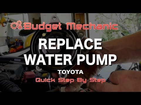 Replace Water Pump in Toyota Corolla 2008 - Leaking Coolant Overheating