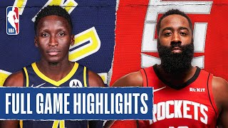 PACERS at ROCKETS | FULL GAME HIGHLIGHTS | August 12, 2020