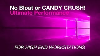 New Windows 10 Pro for WORKSTATIONS - ULTIMATE PERFORMANCE Windows 10 April 2018