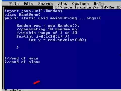 Random Number Using Java