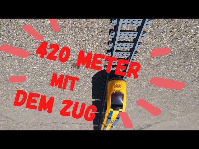 420 Meter mit dem Lego Zug durch Fischbach bis an den Bodensee der Weltrekord kann also kommen!