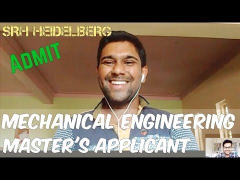 Mechanical Engineering Student: SRH Heidelberg Admit