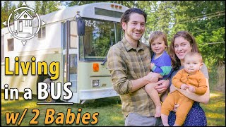 Family Lives in Stunning SCHOOL BUS Home w/ Baby & Toddler