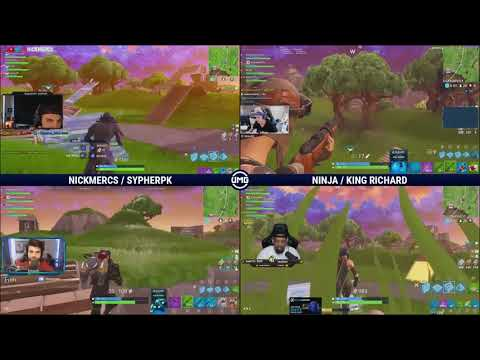 NICKMERCS & SypherPK Vs Ninja & King Richard | Friday Fortnite Week 3 | Winners Semifinals