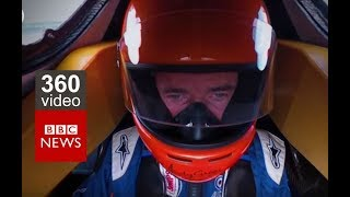 Bloodhound: Ride with Driver Andy Green in 360 Video - BBC News thumbnail