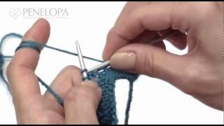 Прибавление внутри полотна с помощью накида(Начальная техника вязания. A11. Прибавление петель Прибавление внутри полотна с помощью накида Описание:..., 2012-05-26T10:54:52.000Z)