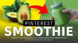 CRASH TEST : Smoothies originaux (vu sur Pinterest)