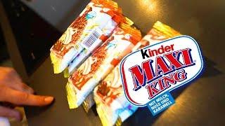Experiment!! KINDER-MAXIKING Eis selbst machen !!!