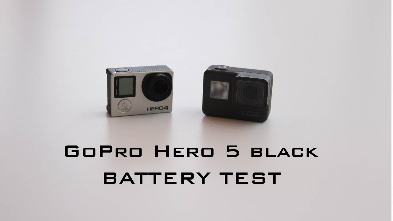Gopro Hero 5 Vs Hero 4 >> Gopro Hero 5 Vs Hero 4 Black Battery Test Youtube