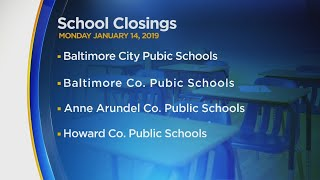 School Closings And Delays Announced For Monday