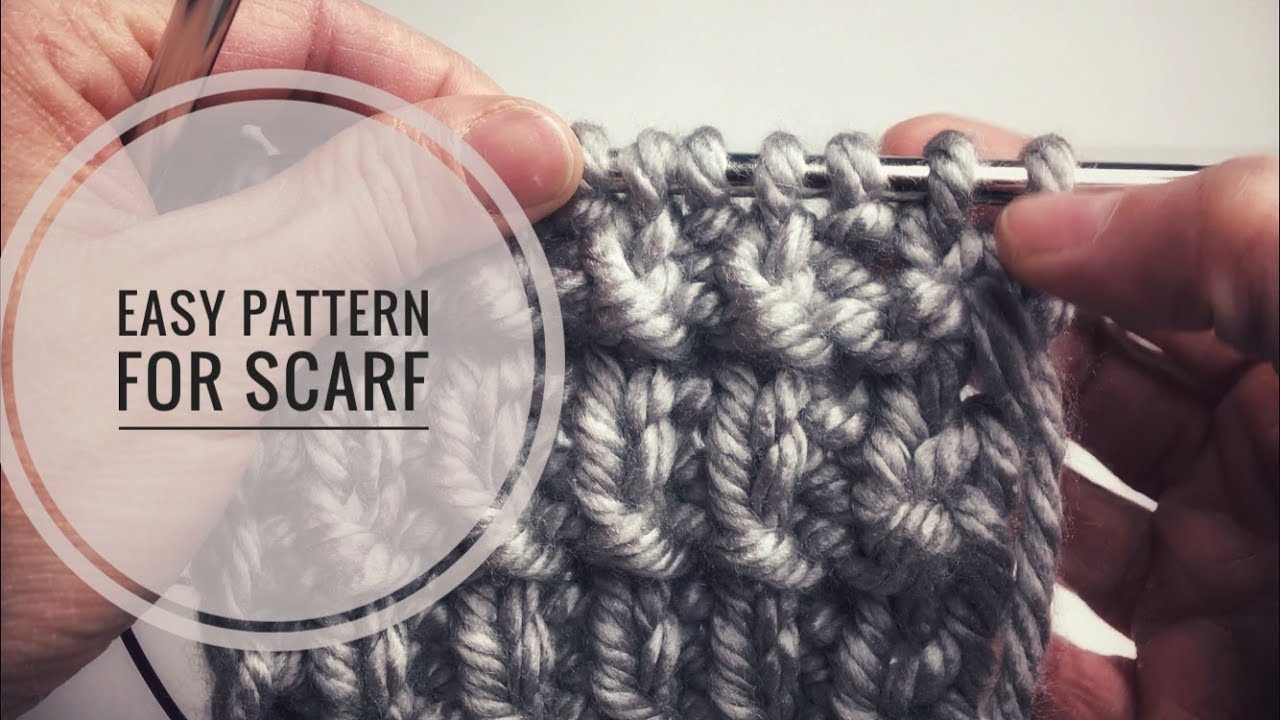 Easy Scarf Knitting Patterns Knitting Stitches For Scarves