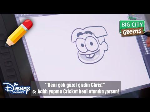 Greenler'in Cricket'i Nasıl Çizilir? 🖌| Greenlerin Büyükşehir Maceraları | Disney Channel Türkiye