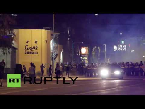 USA: Helicopters and tear gas dog anti-police brutality demo in Phoenix