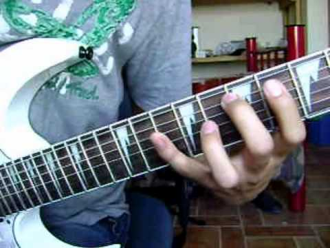 how to play suicide silence - you only live once (intro riff) w/tabs