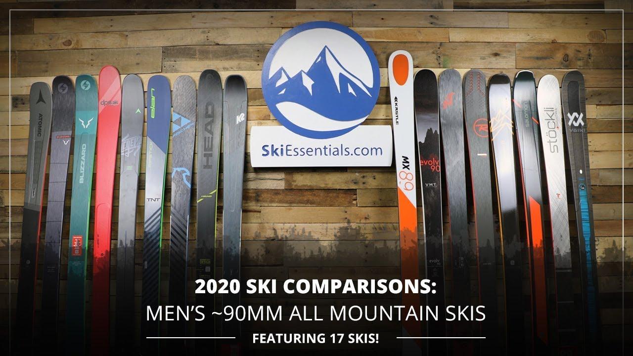 Best All Mountain Skis 2020.2020 Ski Comparisons Men S 90mm All Mountain Ski Guide