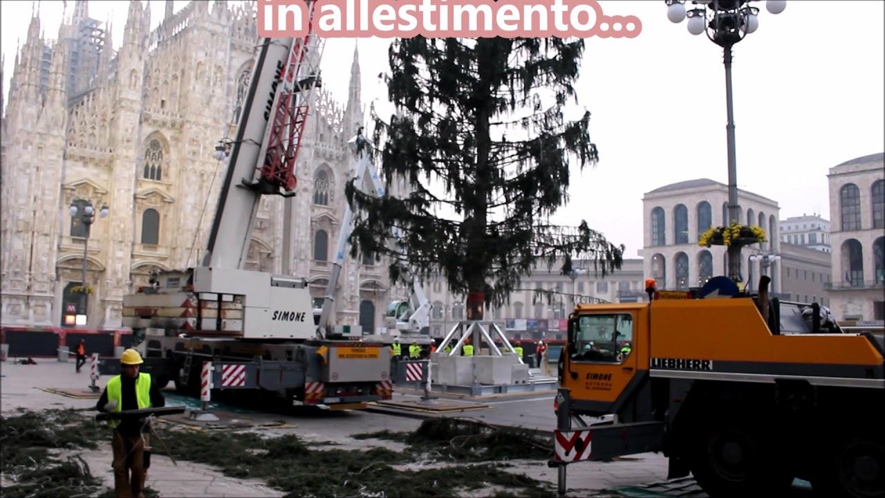 Albero Di Natale Milano.Albero Di Natale 2017 In Allestimento Piazza Duomo Milano