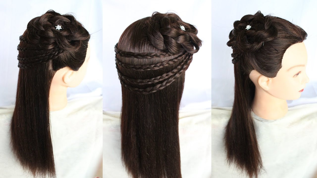 Hairstyle For Party Wedding Hairstyle Beautiful Hairstyle Hairstyle For Special Occasion