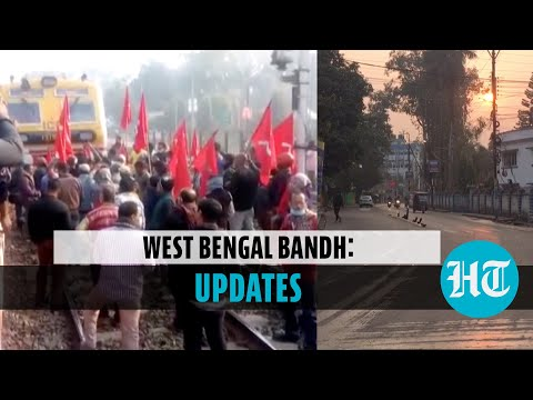 Bengal bandh: Left party workers block roads & railway track