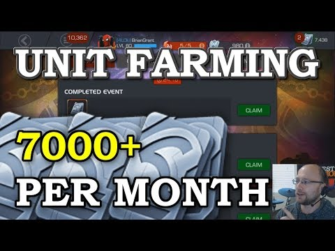 Unit Farming (Updated) - 7000+ Per Month FREE   Marvel Contest of Champions