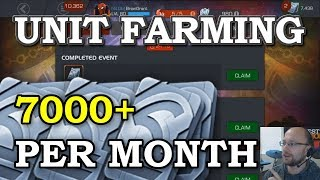 Unit Farming (Updated) - 7000+ Per Month FREE | Marvel Contest of Champions