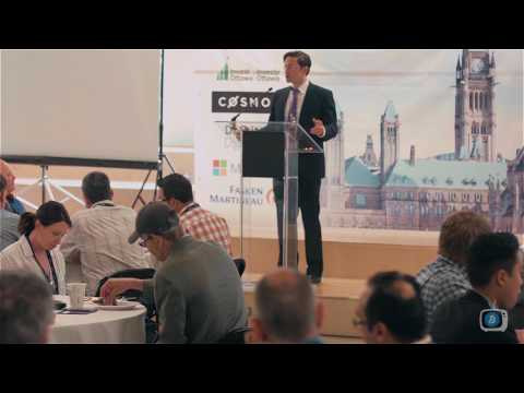 Pierre Poilievre speaks at the Government Blockchain Forum in Ottawa on June 13, 2017