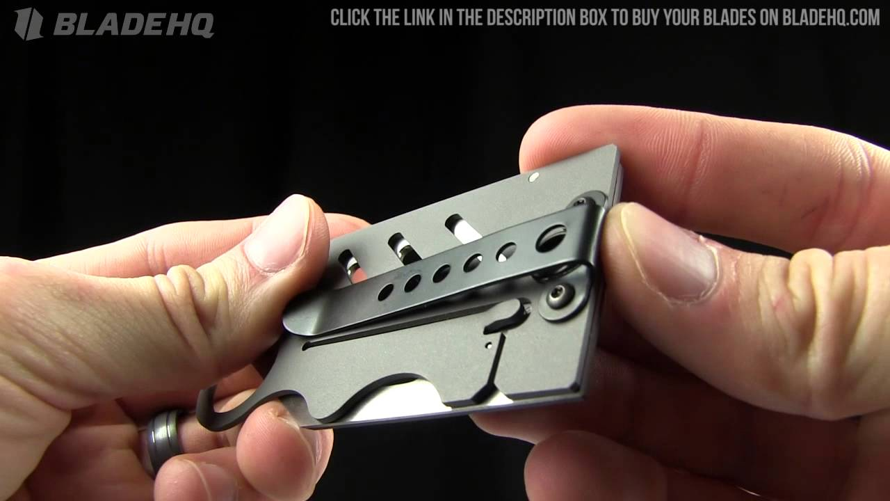 creditor ii money clip credit card knife overview youtube - Best Credit Card Holder