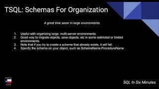 TSQL: Creating Schemas For Organization