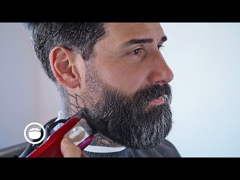 Relaxing Beard Shave With Faded Pompadour (ASMR - Barbershop Sounds/Minimal Talking)