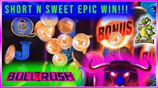 BIG WIN BONUS Bull Rush by Everi Games Multimedia ALMOST HAD IT ALL