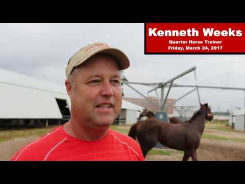 Trainer Kenneth Weeks Interview, March 24, 2017