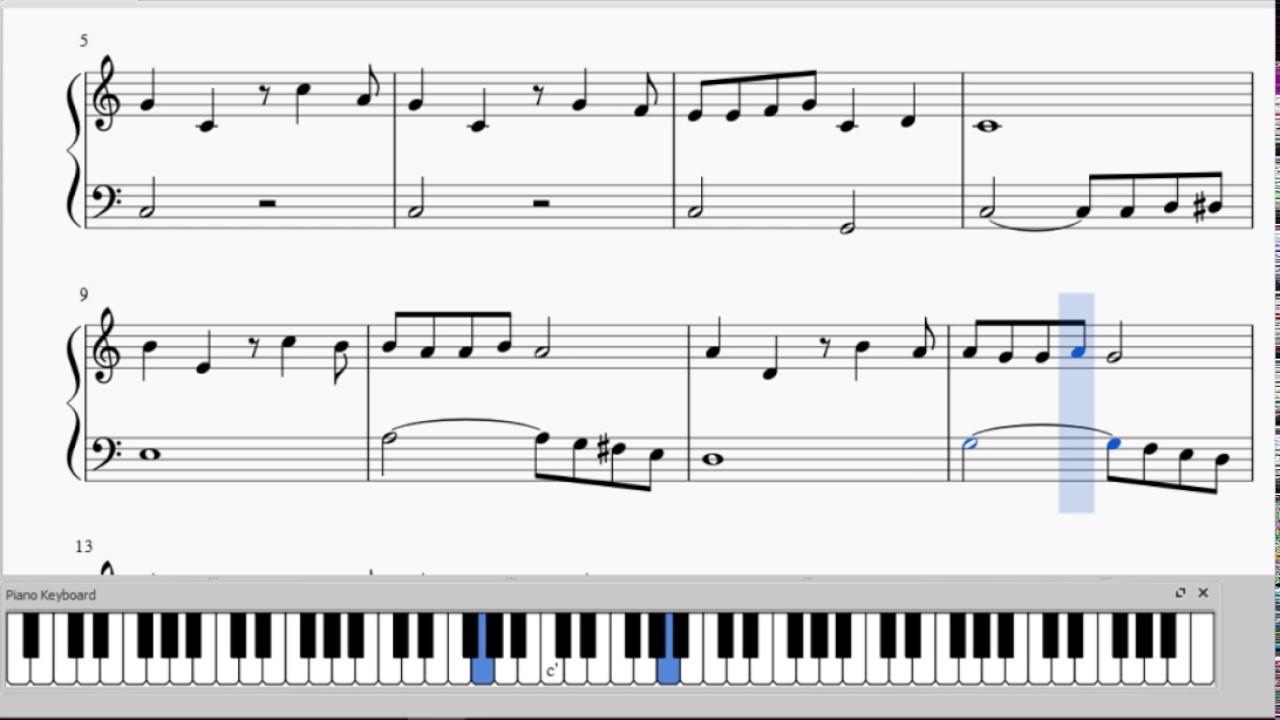 The Flintstones - Free PDF - Easiest Piano Version