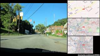 Morewood Pl (Squirrel Hill North, Pittsburgh, PA) to Telephone Way (East Liberty) via Shadysi (...)