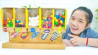 Cách Làm Máy Bán Kẹo Tự Động ❤ DIY Candy Vending Machine - Trang Vlog