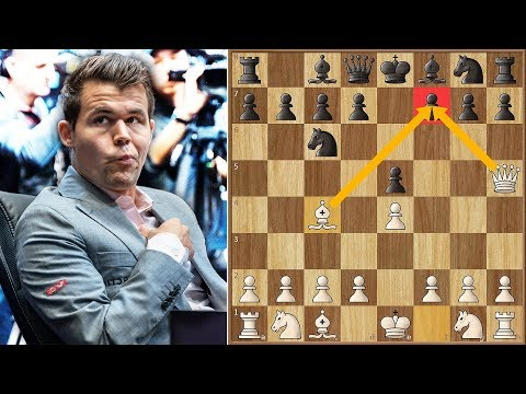 Carlsen Goes For Scholar's Mate... Oops | World Rapid Championship (2018)