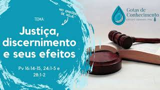 Gotas de Conhecimento #EP05 - Justiça e discernimento e seus efeitos (Pv 16.14,15, 24.1-5 e 28.1,2)